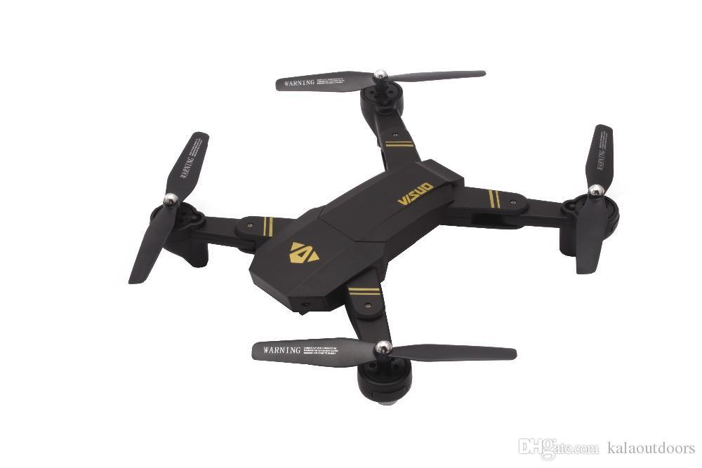 2018 Hot Sellin XS809HW RC Drone Mini Pieghevole Selfie Drone con Wifi FPV REAL TIME 2MP HD Fotocamera Altitude Hold Quadcopter Hot Xmas regalo