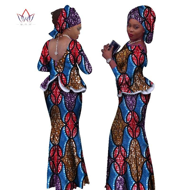 e7b52d2e5383c Cheap 2018 Africa Style Two Piece Skirt Set Dashiki Elegant Clothing  Ruffles Sexy Crop Top And Skirt Women Sets for Wedding WY1057