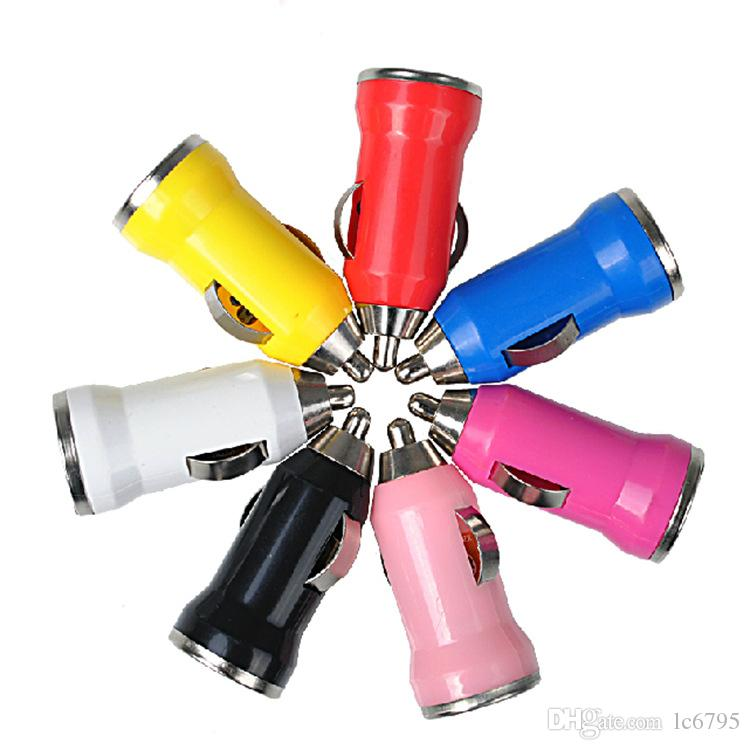 USB car full charge bullet train sufficient 1A mobile charger color car charger car direct sales