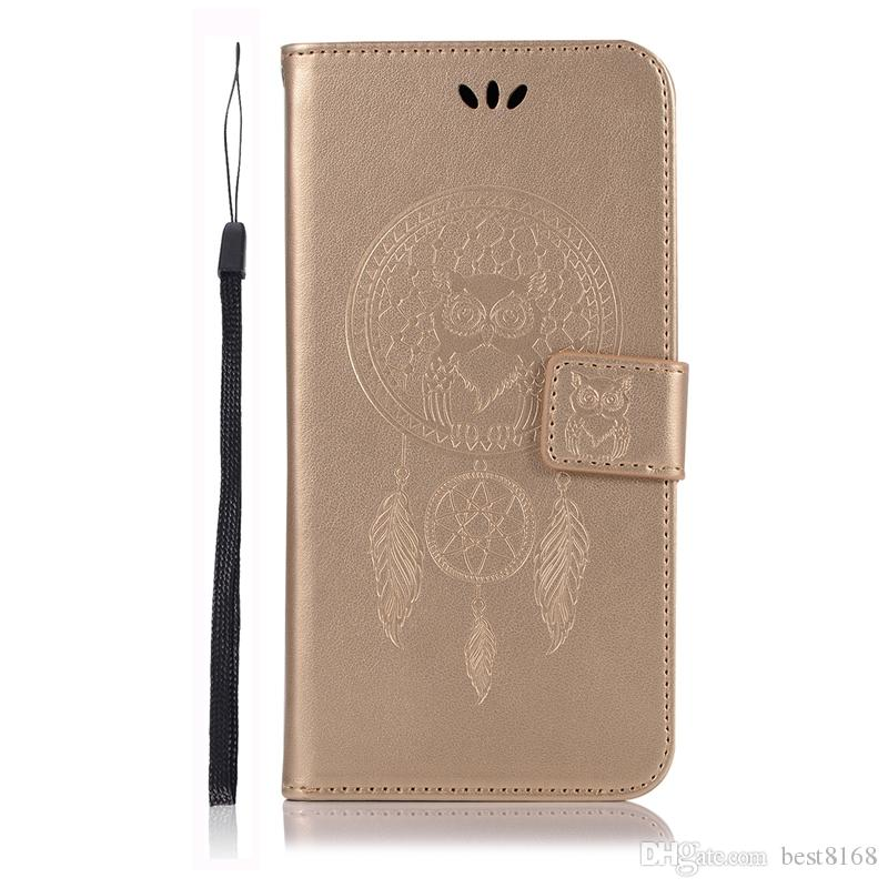Case For Samsung Galaxy A71 A51 Moto G8 Plus G8 Play Owl Wallet Leather ID Dreamcatcher Card Cute Holder Stand Luxury Phone Love Flip Cover