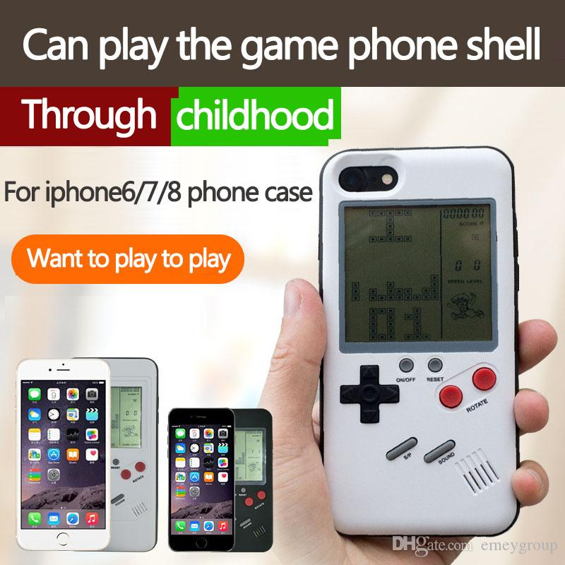 New 3D Silicone ABS Russian game Retro Gameboy Consoles Phone Back Game case TPU for iPhone xs max xr x 6 7 8 plus 10 Cover Protective Shell