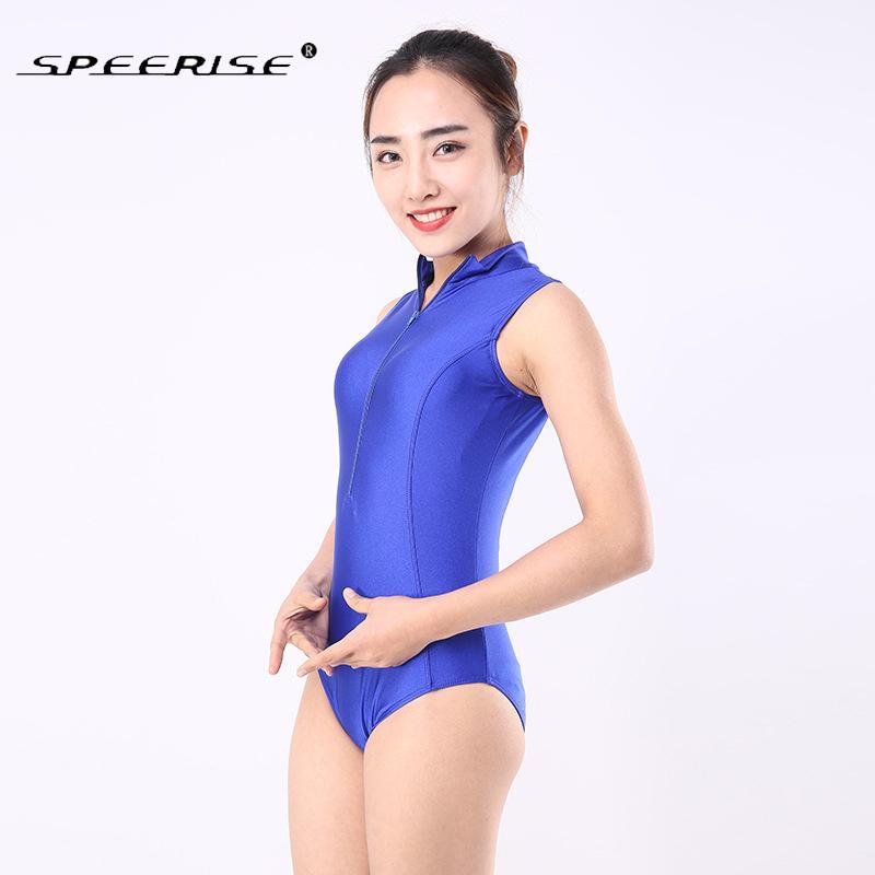 a1f1b36f5 SPEERISE Mujeres Royal Blue Body sin mangas de cuello alto Unitard Lycra  Spandex Leotardo Cheap Gymnastics Leotardos blancos para adultos