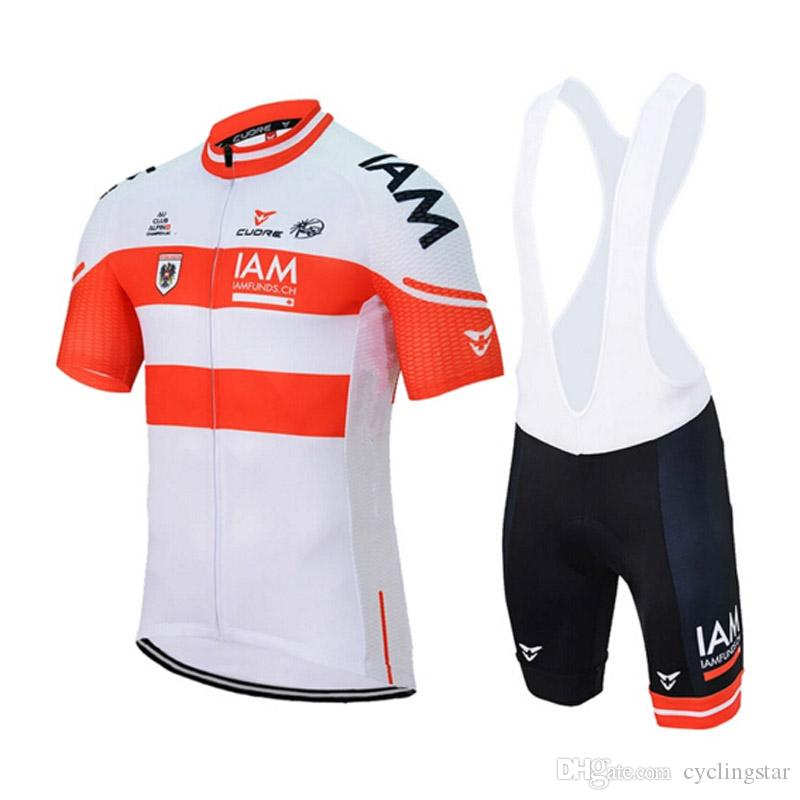 New IAM Cycling Jersey 2018 Ropa Ciclismo Hombre Team Cycling Clothing  Quick Dry Short Sleeve Shirt  Bib Shorts Mtb Maillot Ciclismo A1003 Road  Bicycle ... dd3ea6d88