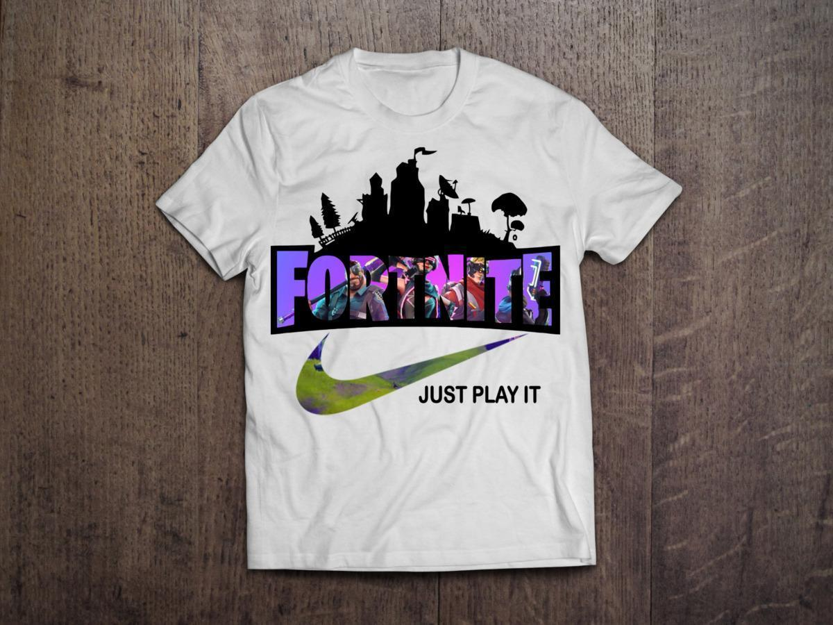 Fortnite Just Play It Battle Royale Gaming T Shirt New Fashion Cool