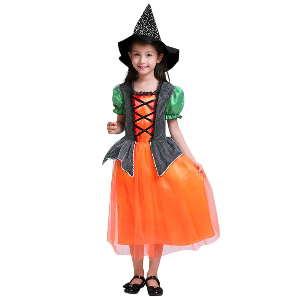 2018 toddler kids baby girls halloween clothes dress party dresses+