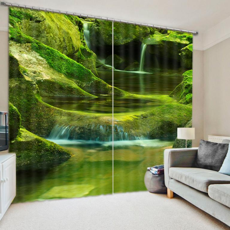 Custom 3d Window Curtain Waterfall Curtains