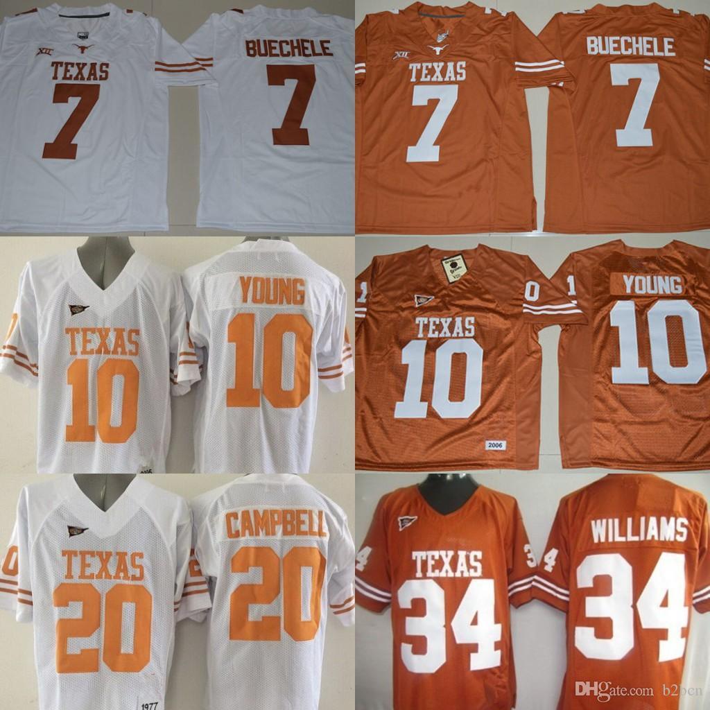 417a7f18f ... netherlands order men texas longhorns shane buechele college jerseys  ncaa 10 vince young 20 earl campbell