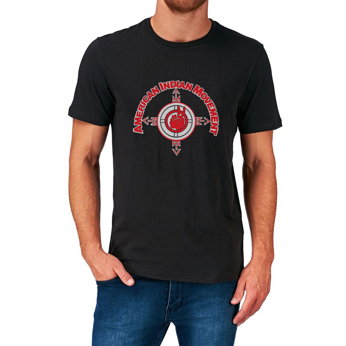 f2214b30 American Indian Movement T Shirt New Native Americans Tribe Tribal Usa Aim  Men T Shirt Novelty O - Neck Tops Cool Online with $30.94/Piece on  Ourslove's ...