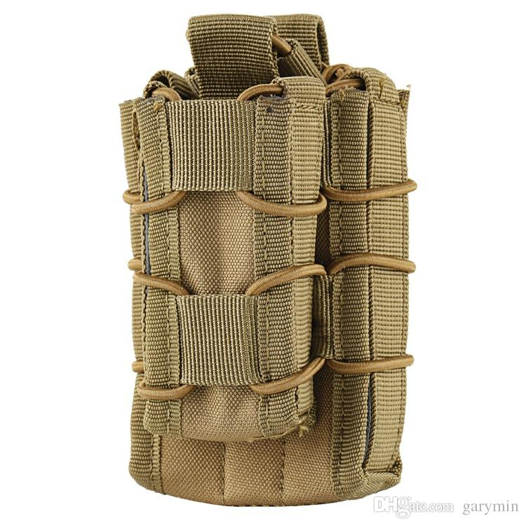 Tactical Open Top Double Decker Single Rifle Pistol Mag Pouch Magazine Bag Outdoor Camping hiking Waist Bag Tool Pouch