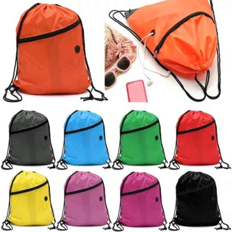 ea16c23fe9df 2019 Mini Waterproof Nylon Shoe Bags Storage Gym Bags Drawstring Dust  Backpacks Storage Pouch Outdoor Travel Duffle Sports From Curtainy