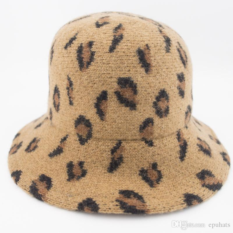 100% Wool Felt Cloche Hat Woman Autumn Winter Bucket hats Beautiful Leopard ladies hat Professional Hat Wholesale Nice Gift for Girls MH1859