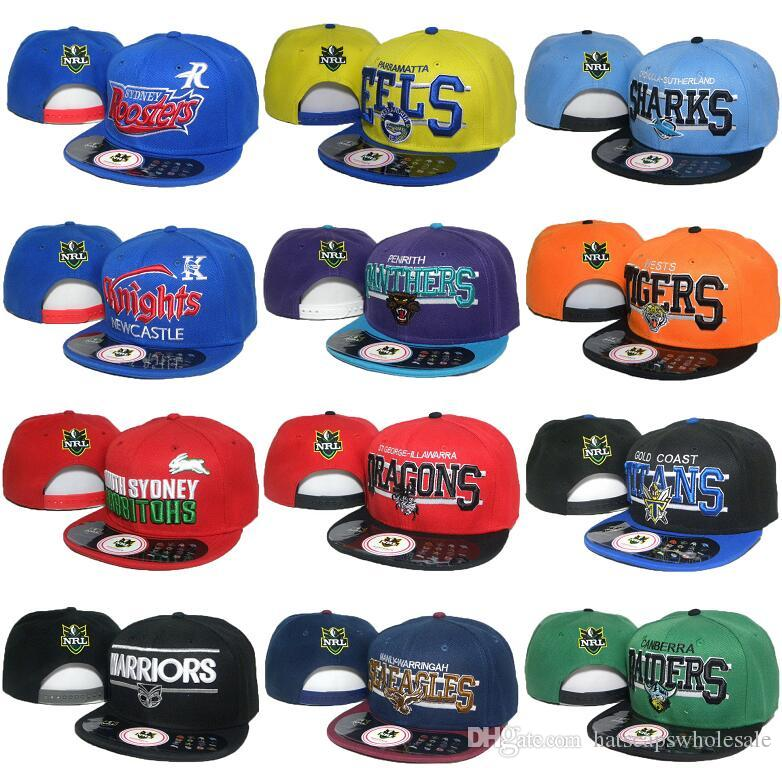 2c2aad7c Wholesale Cheap Price Men's 12 Styles NRL Baseball Snapback Hats Women's  Sport Adjustable Caps Fashion Hip Hop Chapeaus