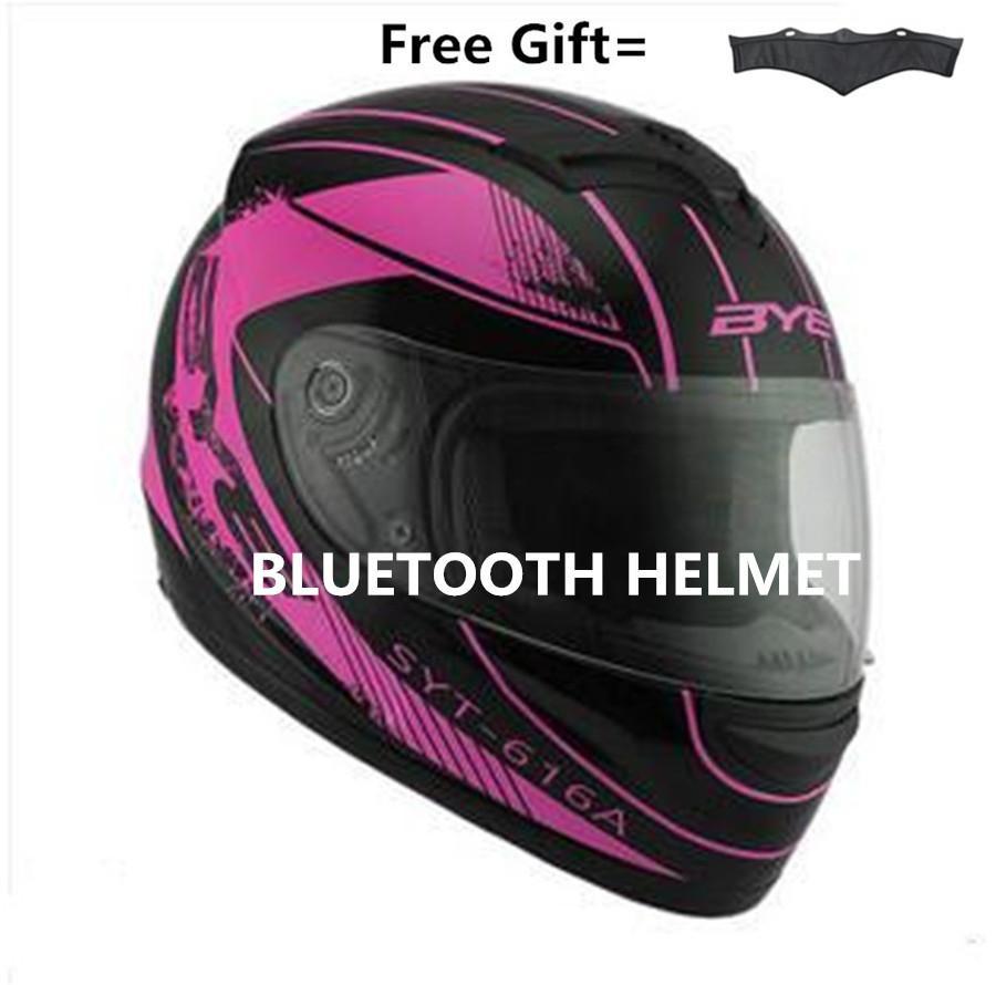 Bluetooth Integrated Modular Full Face Motorcycle Helmet Sun Shield