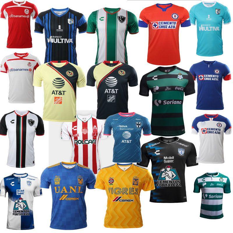 7f806bcfd 2018 New Arrived Mexico Club Necaxa Charly tigres Futbol Camisa Chivas  cuervos America xolos 18 19 rugby Jerseys Camisetas Shirt S-XXL