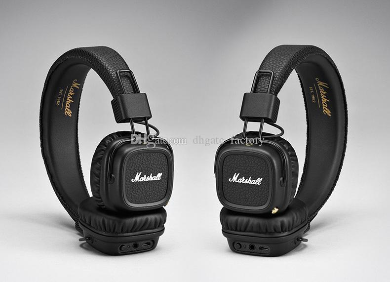 Marshall Major II 2.0 Bluetooth Wireless DJ Headphone Deep Bass Noise Isolating Headset Earphone for iPhone Samsung Cell Phone DHL Free