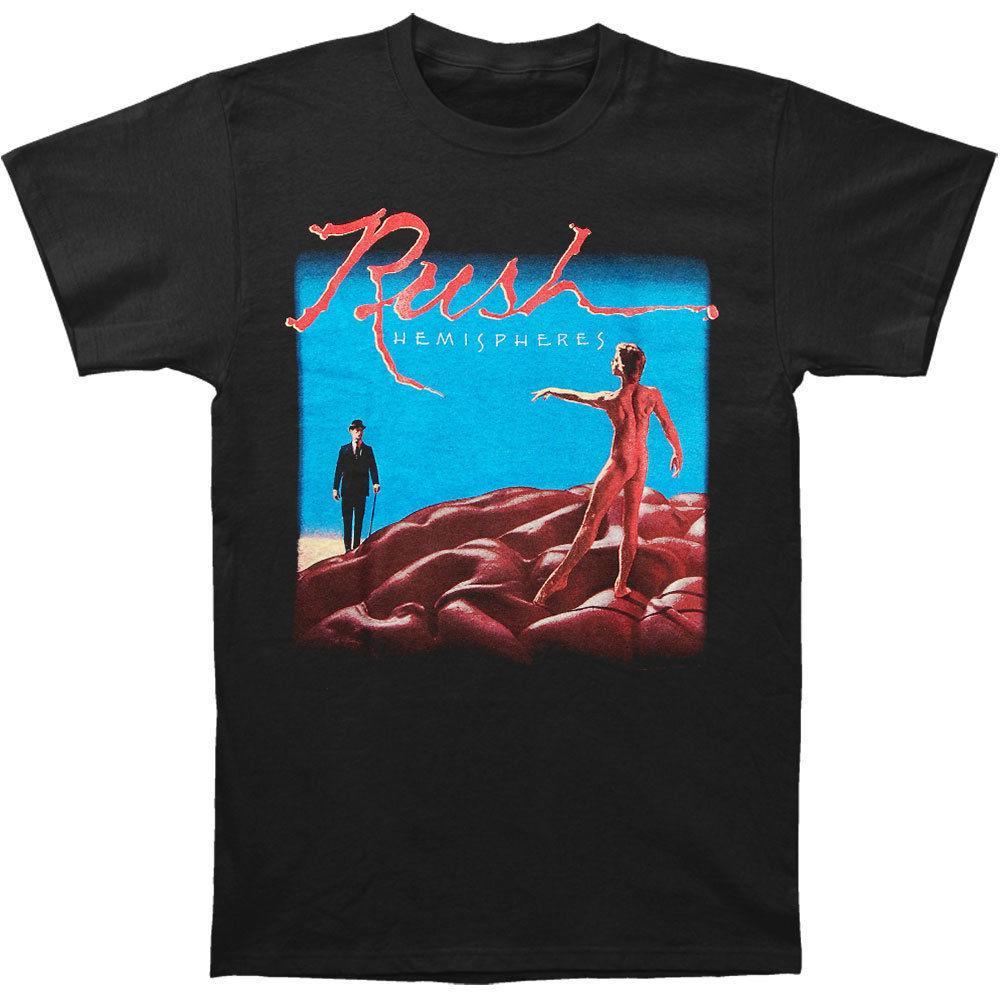 Rush Mens Hemispheres T Shirt Black Rockabilia Shirt Custom T