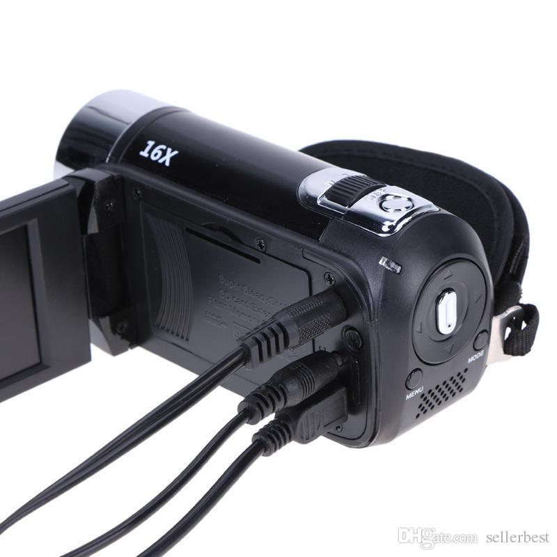 Alloeyed كاميرا الفيديو الرقمية Full HD 1080P 32GB 16x Zoom Mini Camcorder كاميرا DV دعم AVI 1080P 720P VGA ل SD / HCSD 32G