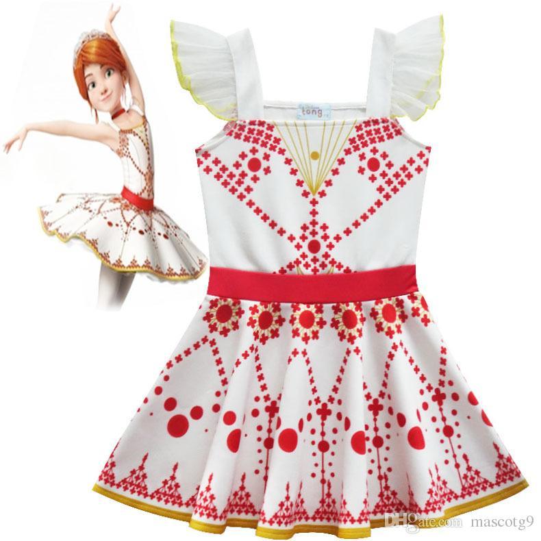 فيلم الباليه فيليسي تأثيري حلي للبنات اللباس هالوين زي للأطفال أكمام اللباس