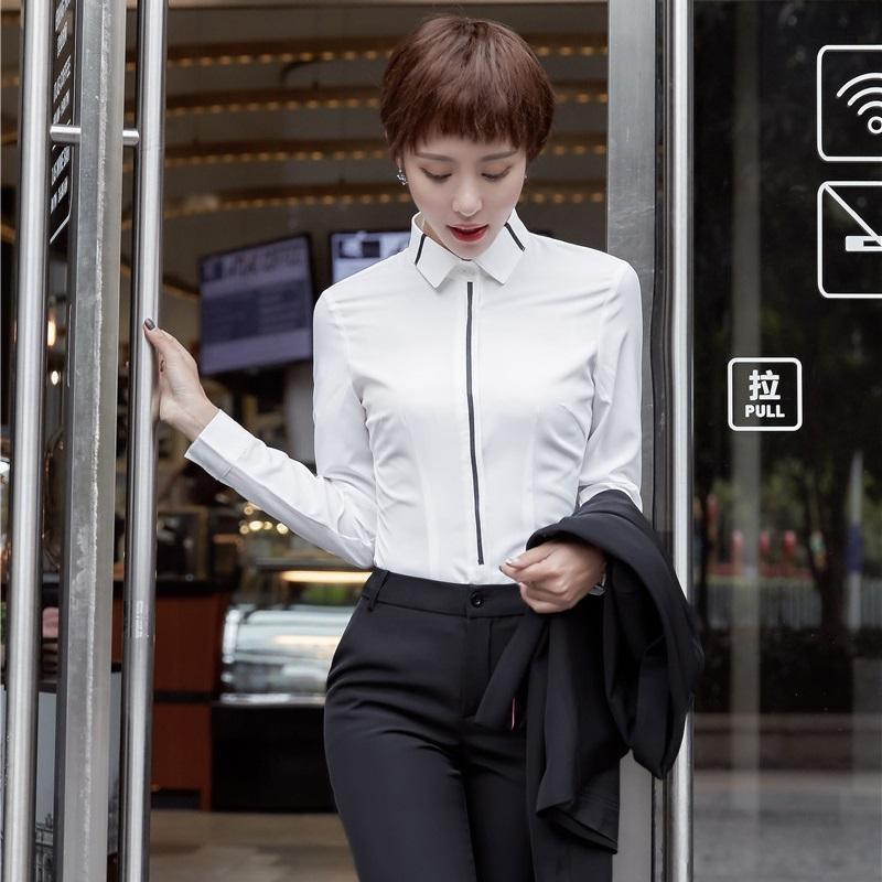 new arrival efa5c 573bc Camicie da donna formali Camicie bianche da lavoro da lavoro indossano  abiti a maniche lunghe