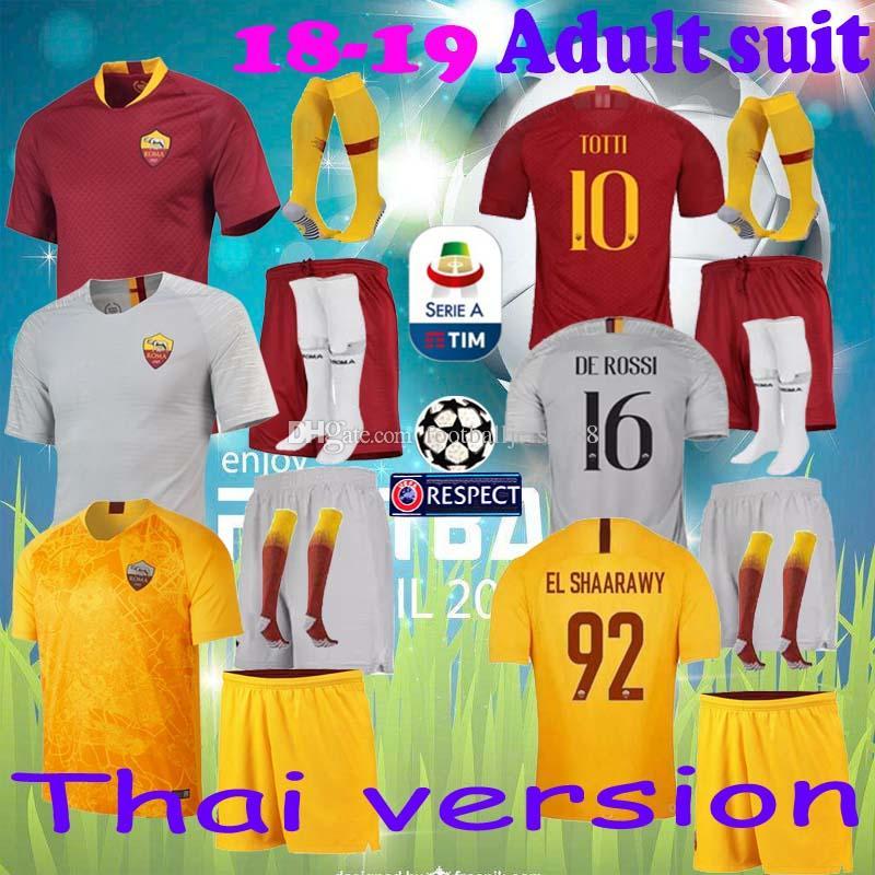 039c78e53cd canada 2018 2018 top quality totti roma soccer jersey home 18 19 de rossi  a.s.roma