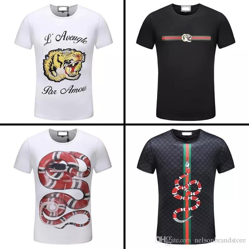 657628702e8 2018 New Famous Brand Mens Designer BOSS T Shirts Good Quality Cotton  Fashion Summer Short Mens BOSS T-shirt Online with  52.7 Piece on  Duoyidian s Store ...