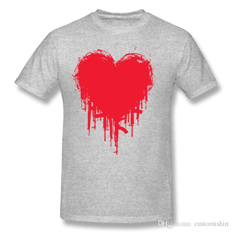 Man 100% Cotton Dark Heart II Tee-Shirts Man Round Collar Blue Short Sleeved T-Shirts S-6XL Funny Tee-Shirts