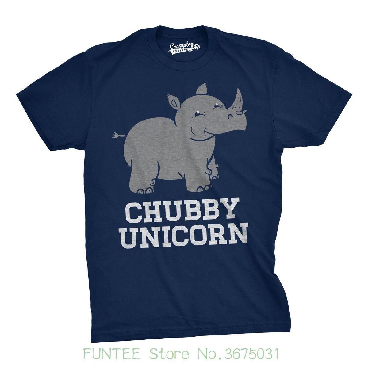 5e8e28338 Pure Cotton Round Collar Men Mens Chubby Unicorn Tshirt Funny Cute Adorable  Rhino Animal T Shirt Crazy T Shirts For Men Cheap T Shirts For Sale Online  From ...