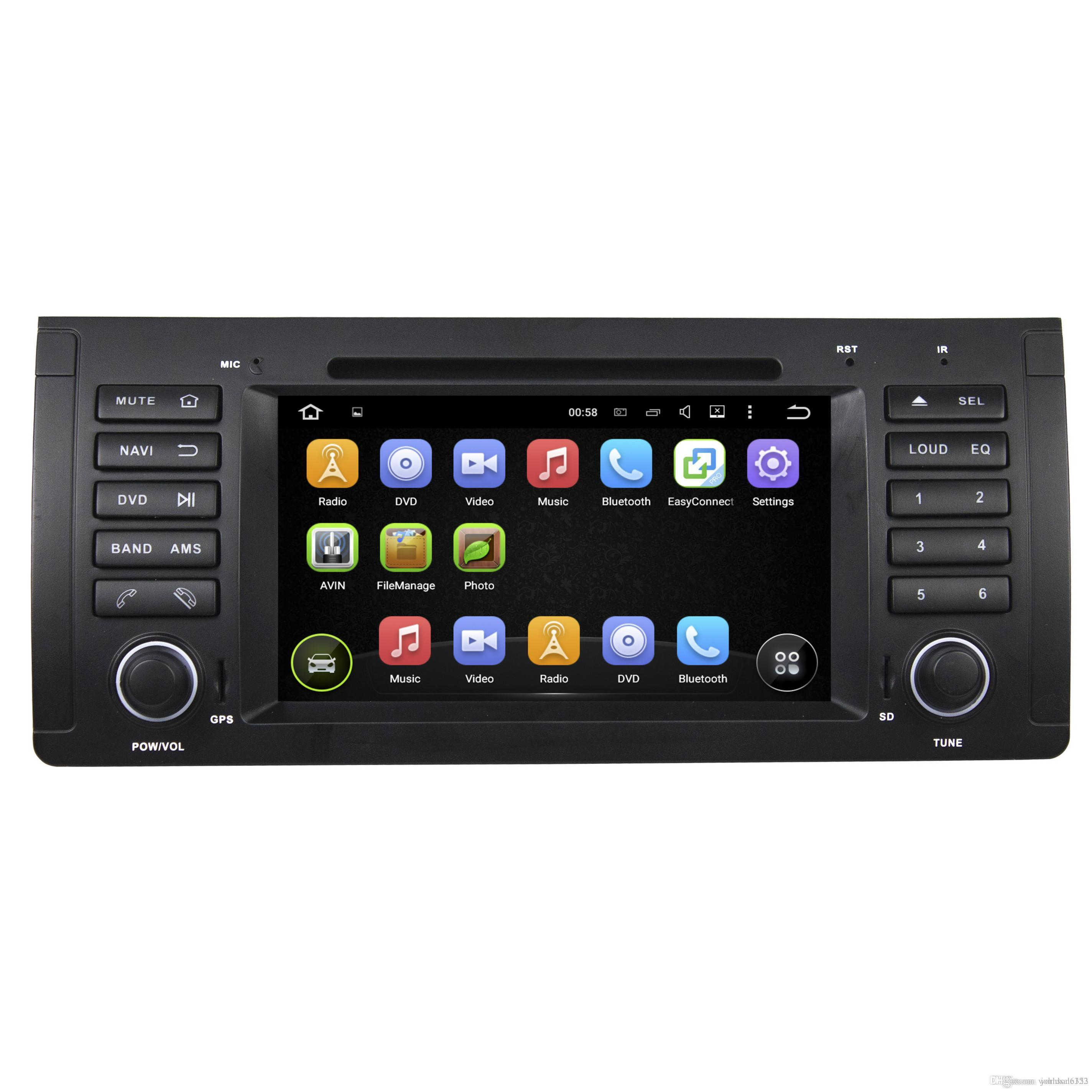 Car Multimedia 2 Din Android7.1 System Car PC In Car Dvd Player Quad Core  For BMW E39 Central Multimedia Navigation System RDS Radio HD Vide Dual  Screen In ...