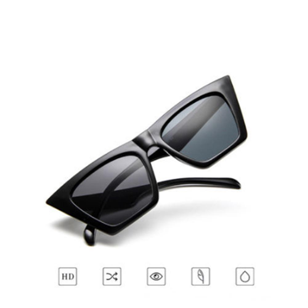 1419e0d187c8 Retro Small Red Ladies Sunglass Black Eyewear Women Cat Eye Luxury ...