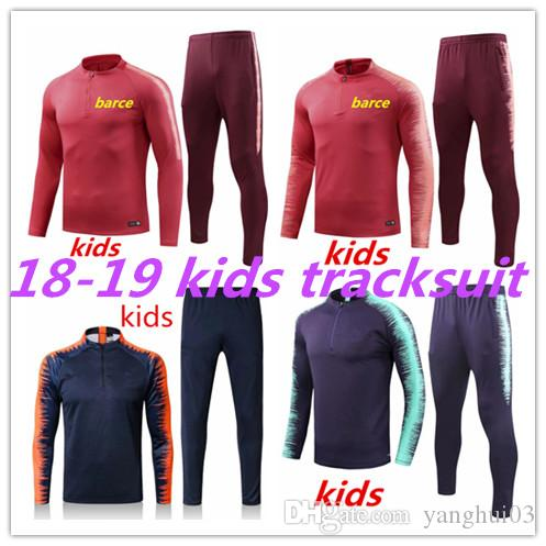 950825b7d5a 2019 MESSI Kids Tracksuit Training Suits 18 19 New SUAREZ CHANDAL Uniforms  Shirts Football A.INIES 2018 2019 Tracksuits Soccer Kit From Yanghui03