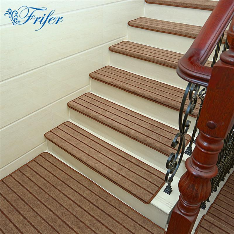 High Quality High Quality Stair Carpet Sets Anti Slip Stairs Tread Protector Mats Soft Step  Rug For Stair Fit For 24cm Width Stairs Discount Outdoor Chair Cushions  Patio ...