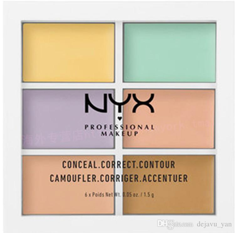 NYX Professional Face Contour Makeup Concealer Palette Concealer foundation brightener make up full cover woman cosmetic
