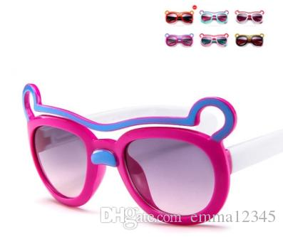 e9e744d7f4 Cute Cartoon Bear Boy Girl Sunglasses 100% UV Protection UV400 Kid Sun  Glasses Eyewear Prescription Glasses Sunglass From Emma12345