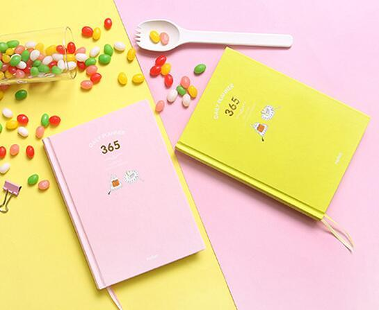 picture about Hardcover Daily Planner known as Lovable Vibrant Sheets 365 Everyday Planner E-book 13*18cm Hardcover Magazine Timetable Undated Do it yourself Program E-book 224P College or university Business office Materials