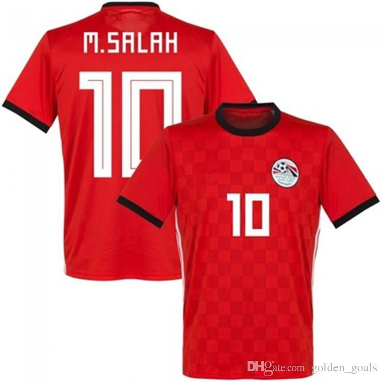 42a710021 2019 2018 2019 Egypt Soccer Jersey M. SALAH World Cup Home Red 18 19  KAHRABA A. HEGAZI RAMADAN National Team Uniforms Jerseys Footbal Shirts  From ...