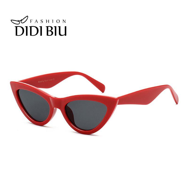 577c92c849bf6 Red Triangular Cat Eye Sunglasses Women Luxury Brand Vintage Wide Plastic  Frame Sun Glasses Star Punk Shades Gafas Femme WL967 Cat Eye Sunglasses  Women ...