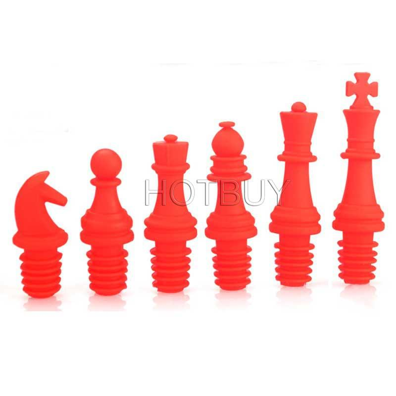 Food Grade Silicone Chess Wine Bottle Stopper Reusable Caps Beer Sealer Cover Wedding Party Decor Creative Gifts #4471