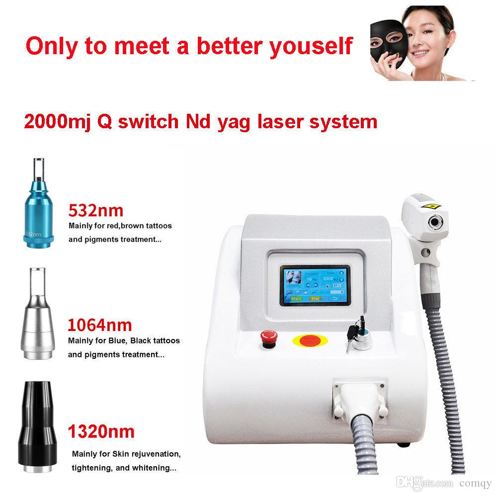 Newest 2000mj Touch Screen Q Switch Nd Yag Laser Tattoo Removal ...