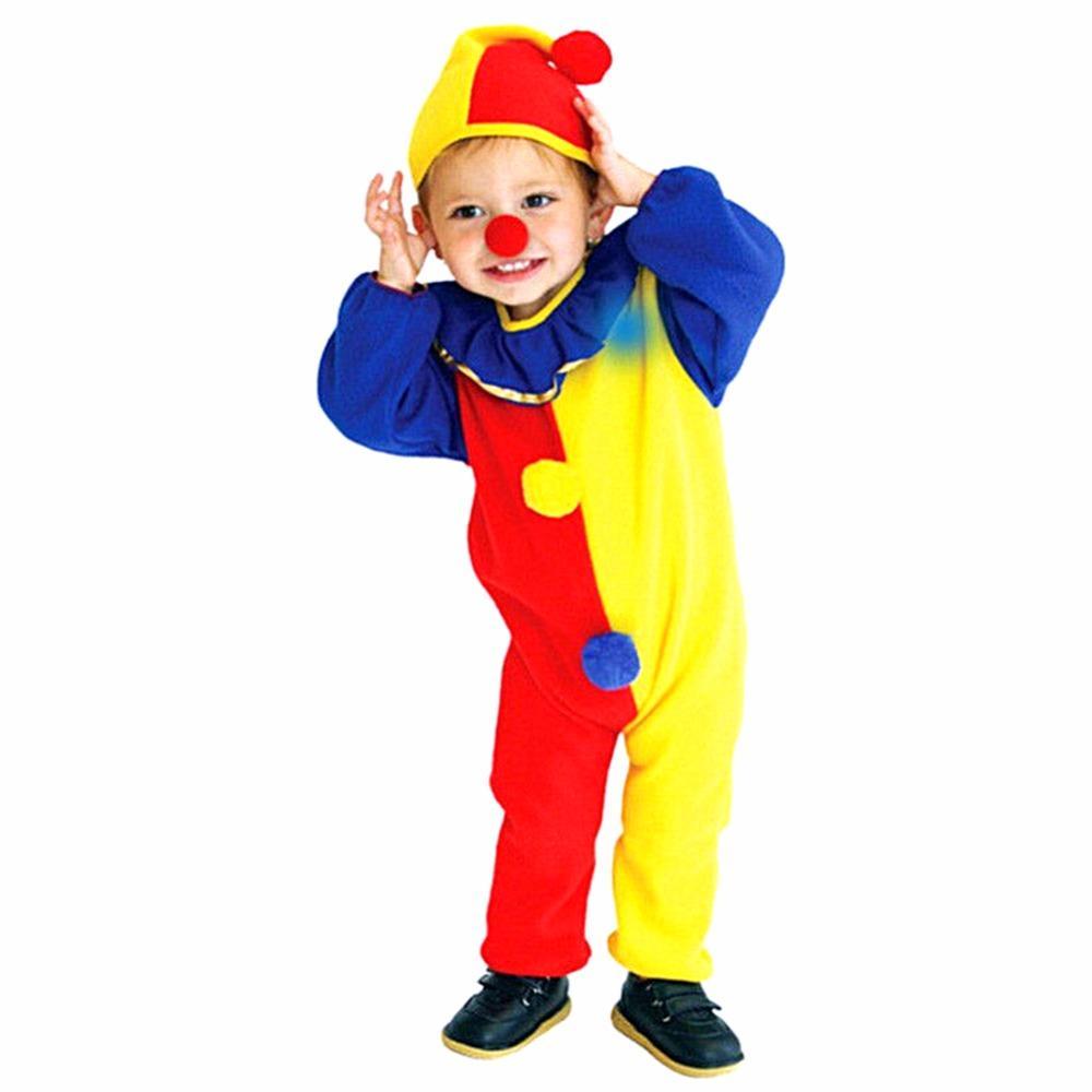Kid Baby Toddler Clown Joker Jumpsuit Pennywise Costume Halloween