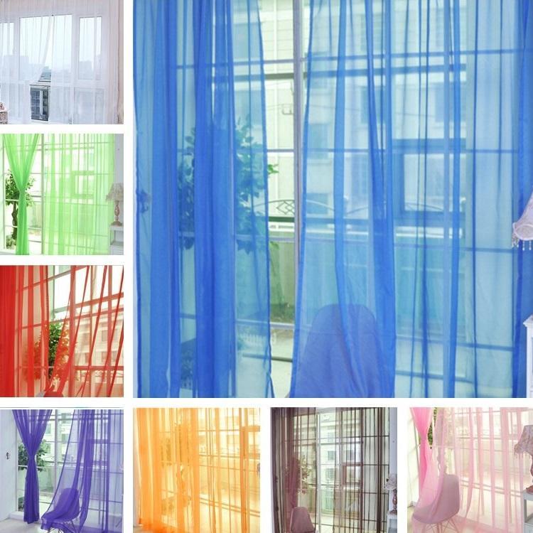 Grosshandel Weiche Feste Farbe Tull Vorhange Geeignet Fur Wohnzimmer