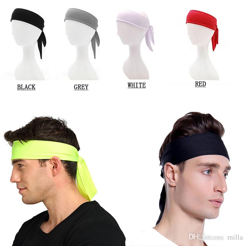 Solid Cotton Tie Back Headbands Stretch Sweatbands Hair Band Moisture  Wicking Workout Men Women Bands UK 2019 From Milla fc03db3f6ea