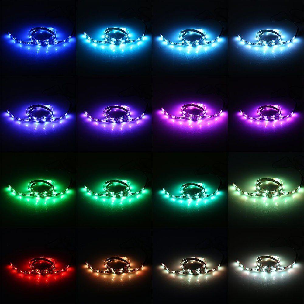USB 5V RGB LED Strip 5050 Strip Lights TV Retroilluminazione 5V USB Powered 3Key Mini Controller HDTV, TV a schermo piatto Accessori Colore multiplo
