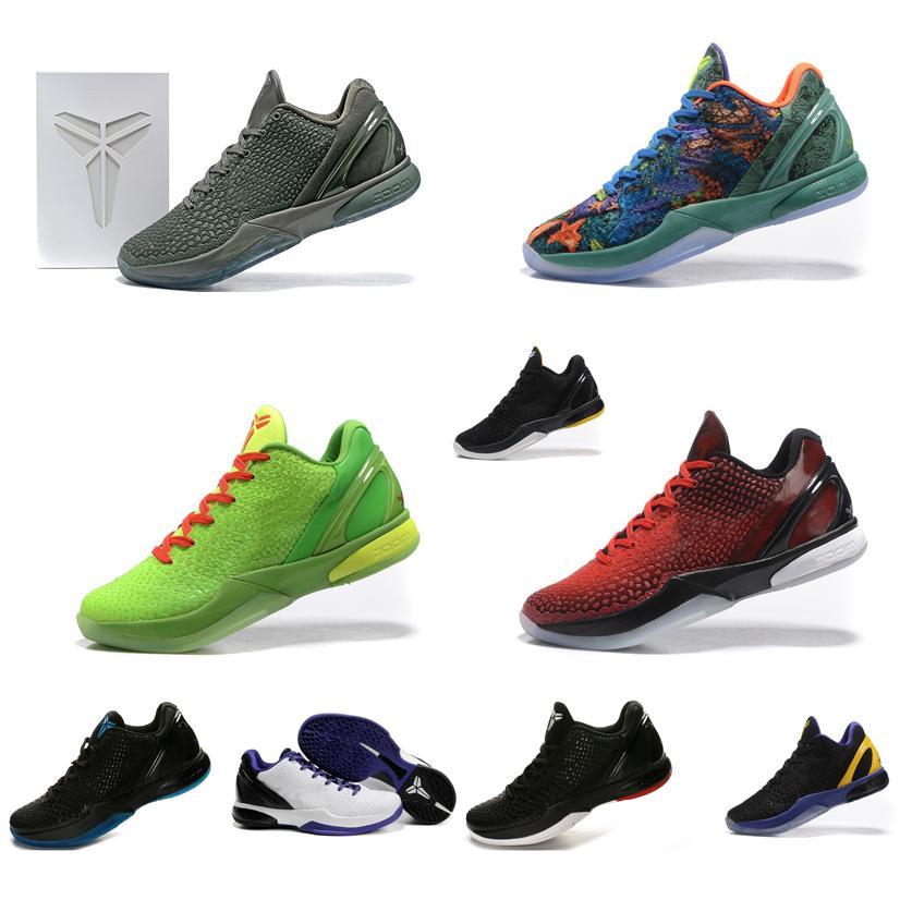 2018 Cheap Men Kobe 6 Vi Low Tops Basketball Shoes Ftb Grey ...