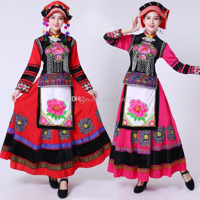 31e08846d 2019 Embroidery Hmong Costumes Female Miao Clothes Chinese Traditional Dress  Stage Performance Wear Chinese Folk Dance Clothing For Women From  Fleming627, ...