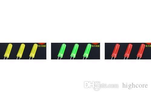 MEZCLA ODM especial a través del agujero difundido 5mm diodo led rojo perlas de luz 5 * 14 mm