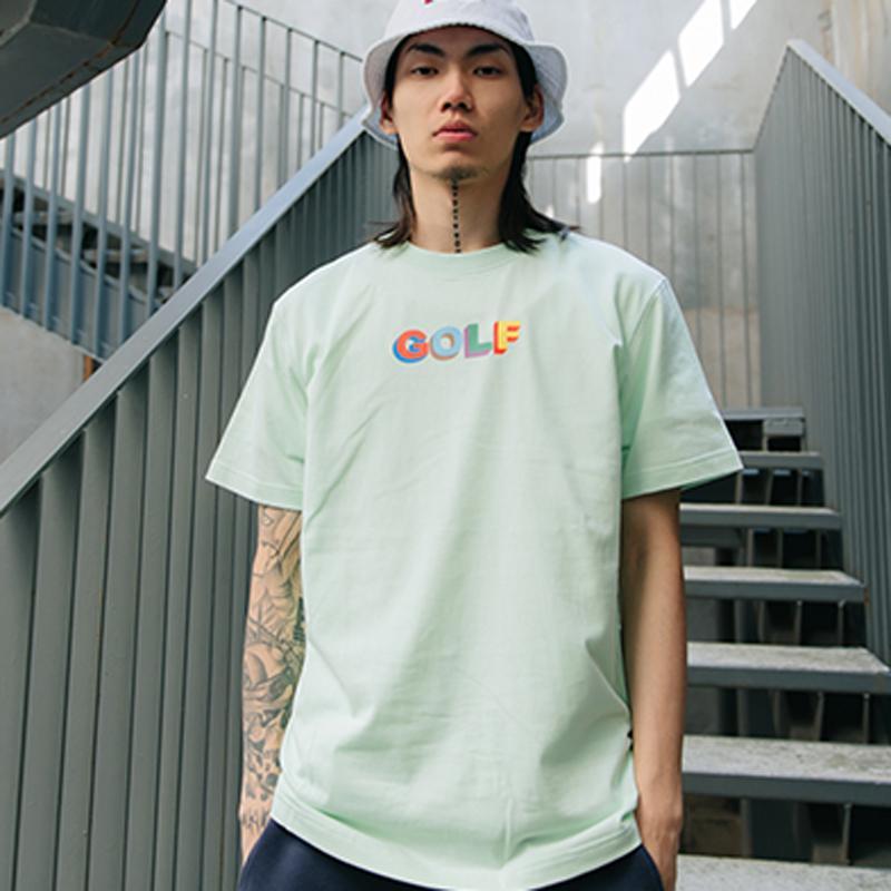 f892ba7cc3d1f GOLF WANG MULTI COLOR 3D LOGO Tee Luxury Casual Simple Solid Short Sleeve  Men Women Summer Street Skateboard T Shirt HFLSTX260 Funny Tshirt Metal T  Shirts ...