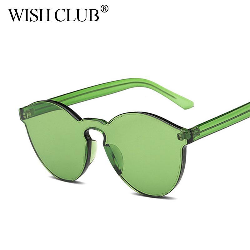 3cd702ef1e Compre Nueva Moda Transparente Para Mujer Gafas De Sol Cat Eye Shades  Diseñador De Marca De Lujo Gafas De Sol Gafas Integradas Gafas De Color  Caramelo A ...