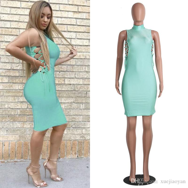eab72b815 2018 Autumn Summer New Fashion Sundress Girl Sexy Outfit Clubbing Hollow  Out Thin Body Con Dresses Sexy Lingerie Women Young Girls Clothes