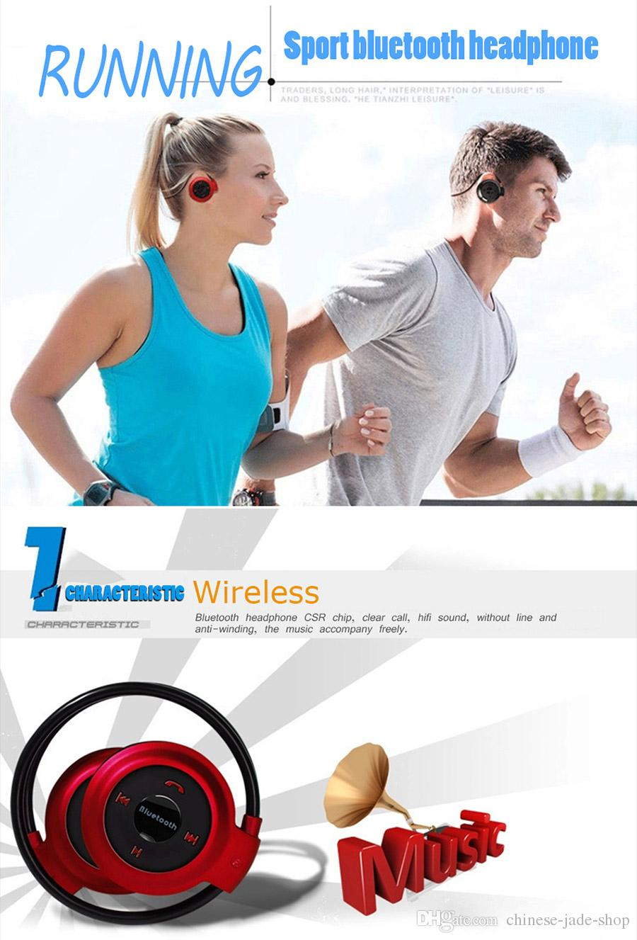 Mini 503 Bluetooth 4.0 Headset Sport Wireless Headphones Music Stereo Earphones FM Speakers Mini503 do not Support TF CARD