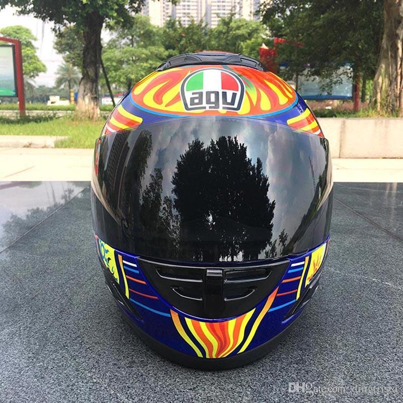 TKOSM Nouvelle Arrivée Casque De Moto Moto Complet Casque Kart Racing Motociclistas Capacete DOT M / L / XL / XXL